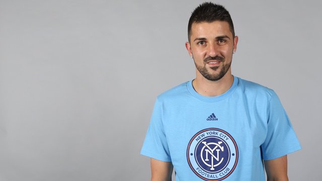 David Villa con el New York City