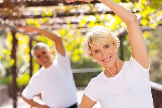 Ejercicio, mayores, osteoporosis, gimnasia
