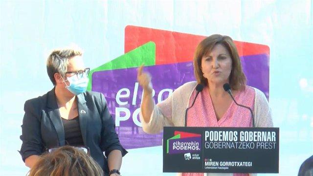 La coordinadora general de Podemos Euskadi, Pilar Garrido.