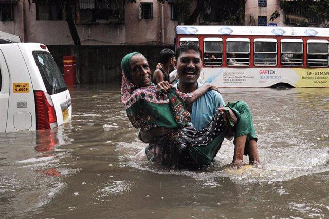 Inundaciones por las lluvias monzónicas en India
