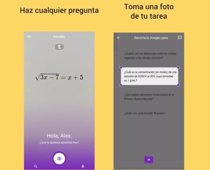 Portaltic.-Socratis, la app de Google que ayuda con los deberes, ya está disponible en español