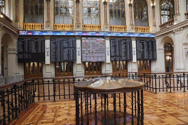 Imagen interior del Palacio de la Bolsa.
