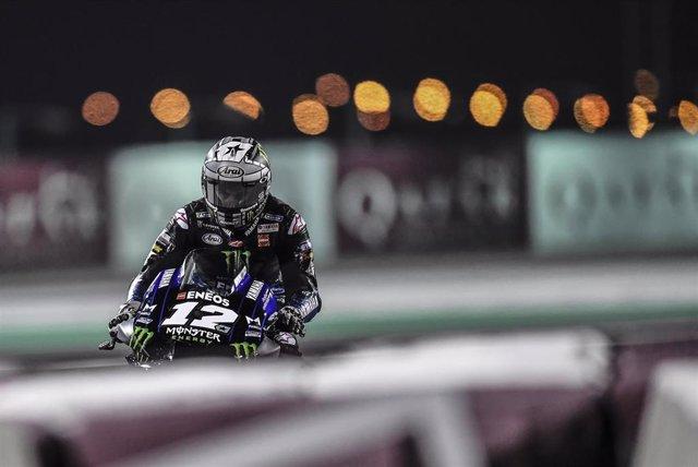 Maverick Viñales, en el Circuito Internacional de Losail.