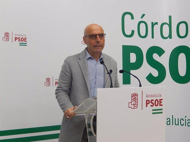 Antonio Hurtado en la sede del PSOE de Córdoba, en una imagen de archivo.