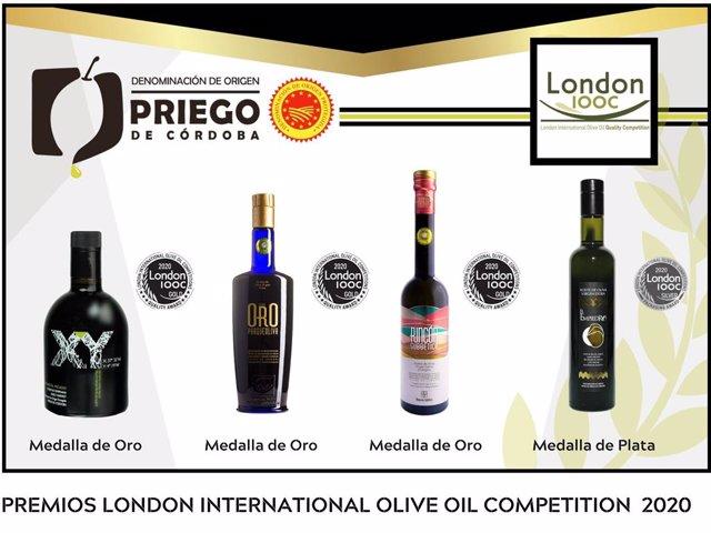 Córdoba.- La DOP Priego de Córdoba es reconocida en Londres con cuatro medallas