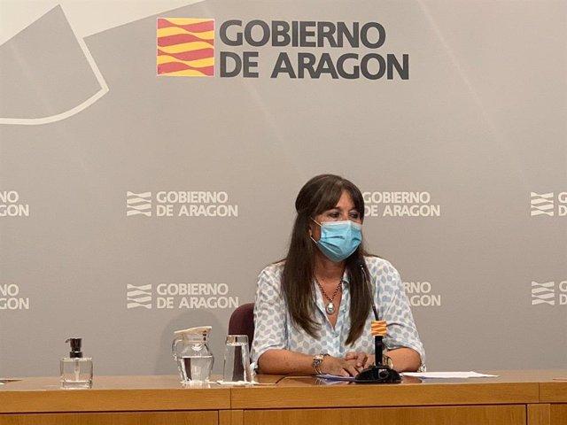 La consejera de Sanidad del Gobierno de Aragón, Sira Repollés