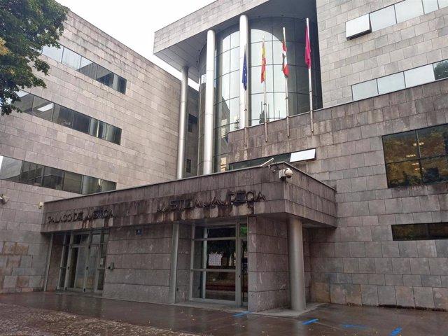 Juzgado de Durango (Vizcaya), donde han prestado declaración tres responsables del la empresa gestora del vertedero de Zaldibar