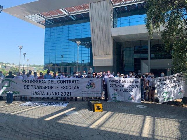 Imagen de la concentración de empresas de transporte en