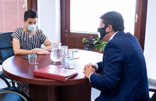 La ministra de Asuntos Exteriores, Arancha González Laya, se reúne con el ministro principal de Gibraltar, Fabián Picardo, en Algeciras (Cádiz)