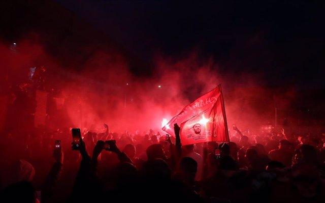 Celebración de aficionados del Liverpool