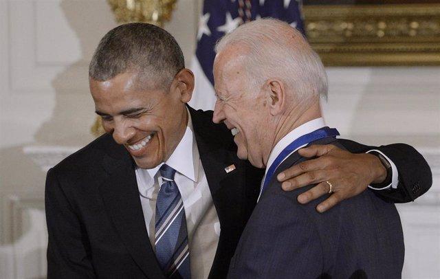 El ex presidente estadounidense Barack Obama con su ex vicepresidente, Joe Biden (Imagen de archivo)