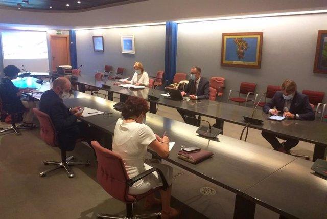 Reunión del comité para la desescalada de Asturias con el sector de la Hostelería.