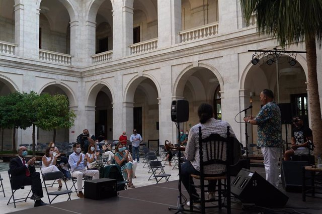 Moreno en el palacio de la Aduana de Málaga