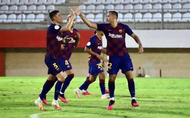 Fútbol.- (Crónica) Barça B-Sabadell y Castellón-Cornellà, finales por el ascenso
