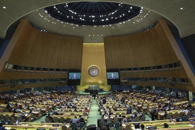 Imagen de archivo de la Asamblea General de la ONU durante la intervención del ministro de Exteriores de Cuba