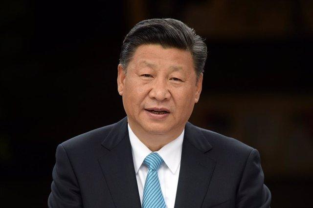El president de la Xina, Xi Jinping, en un acte a Berlín