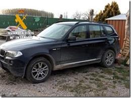 Un vehículo recuperado en la operación de la Guardia Civil