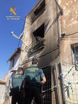 Detenidos los tres presuntos autores del incendio por un ajuste de cuentas de dos viviendas en Arnedo (La Rioja)