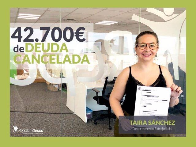 Taira Sanchez del departamento Extrajudicial de Repara tu deuda