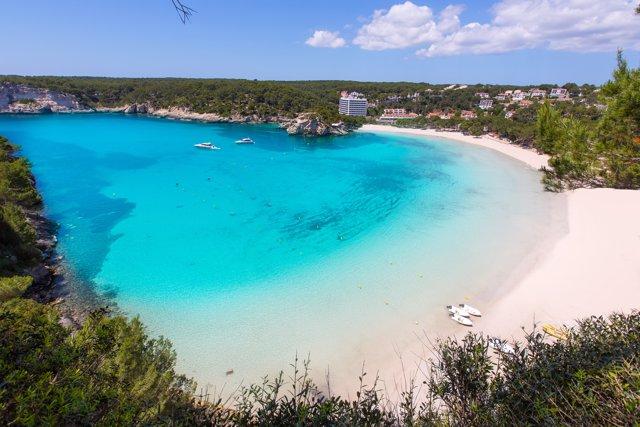 Playa Cala Galdana Beach en Ciutadella, Menorca