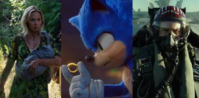 Un lugar tranquilo, Sonic y Top Gun: Maverick