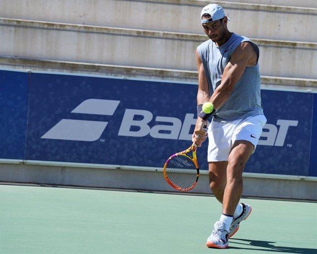 """Tenis.- Rafa Nadal: """"Trabajo duro para tener el cuerpo listo y ser competitivo"""""""