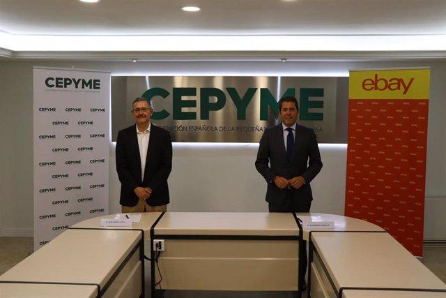 Firma del acuerdo entre eBay y Cepyme para apoyar a la pymes españolas