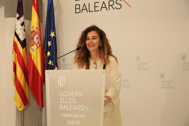 La portavoz del Govern y consellera de Presidencia, Cultura e Igualdad, Pilar Costa