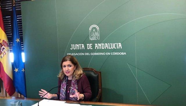 La delegada de Salud y Familias de la Junta de Andalucía en Córdoba, María Jesús Botella, en una imagen de archivo