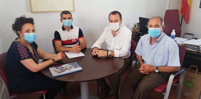 José Luis Ruiz Espejo (PSOE) visita Genalguacil