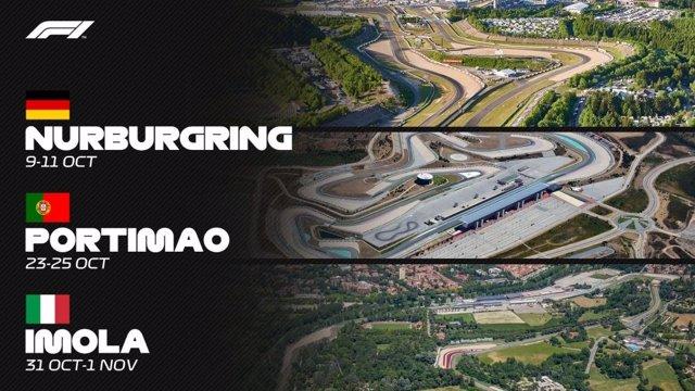 Fórmula 1.- La Fórmula 1 amplía el Mundial con citas en Nurburgring, Portimao e