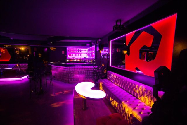 Interior de la discoteca en la ciudad de Madrid.