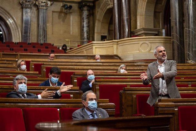 El president del grup de Cs al Parlament, Carlos Carrizosa. Barcelona, Catalunya (Espanya), 22 de juliol del 2020.