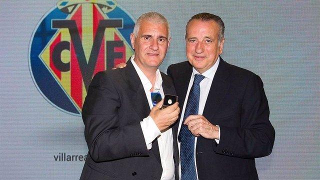 Antonio Cordón junto a Fernando Roig durante su etapa en el Villarreal
