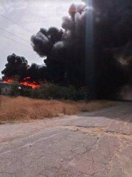 Incendio en el entorno de Palmete