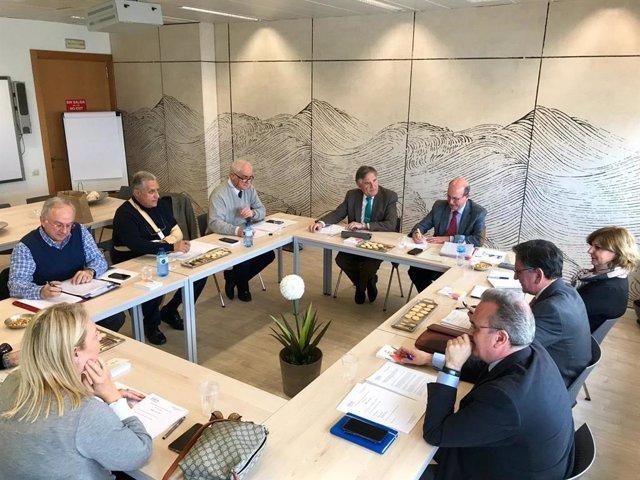 Imagen de archivo de la Junta Directiva de la Federación Andaluza de Centros de Enseñanza Privada (CECE-A).