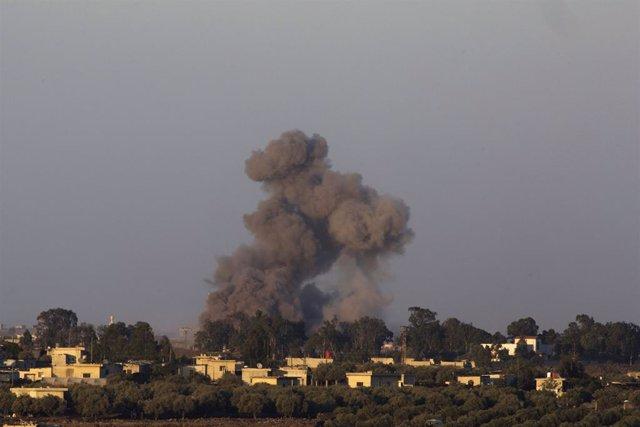 AMP.- Israel/Siria.- Explosiones en el lado sirio de los Altos del Golán causan