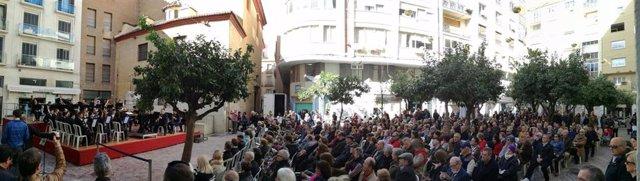 Banda municipal música Málaga plaza de las flores