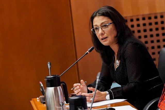 La portavoz de Cs en Ciudadanía y Derechos Sociales en las Cortes de Aragón, Loreto Camañes.