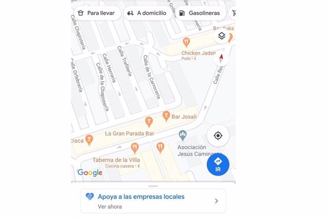 Apoyo al comercio local desde Google Maps