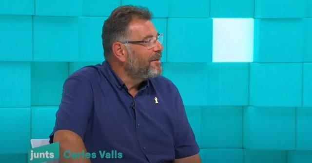 El alcalde de Balenyà (Barcelona), Carles Valls, en el acto de presentación de JxCat.