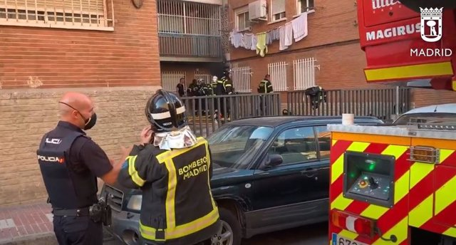 Bomberos del Ayuntamiento de Madrid.