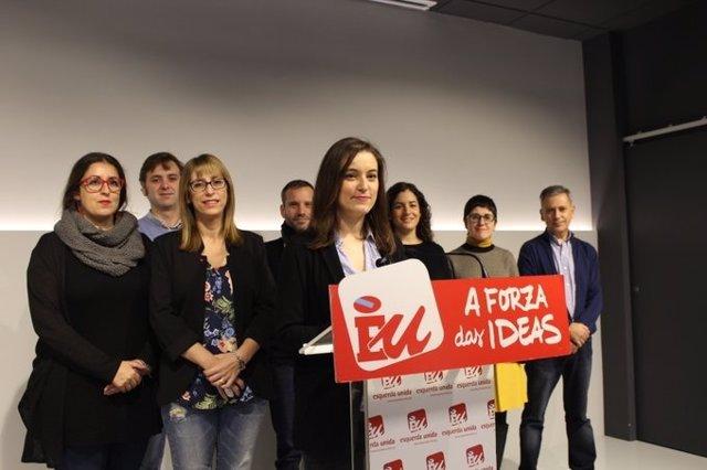 La Coordinadora Nacional de Esquerda Unida, Eva Solla, presenta la candidatura para las elecciones autonómicas.