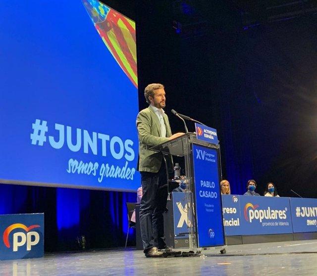 Casado cierra el XV Congreso del PP de Valencia
