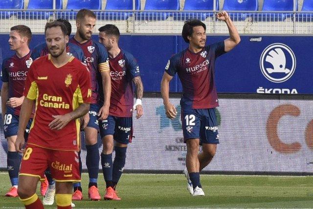 Fútbol.- Okazaki seguirá goleando con el Huesca en Primera