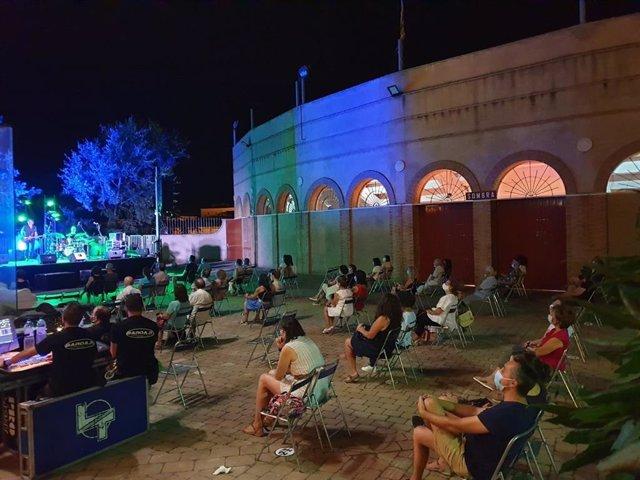Concierto de Silvia Solans&Arrazola Blues Band en Barbastro.