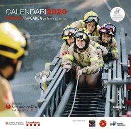 Portada del calendari solidari 'Bombers amb Causa' de 2020