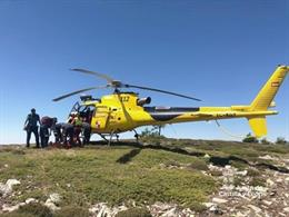 Rescate de un senderista en la laguna Cebollera de Soria.