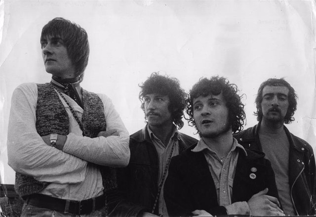 Mick Fleetwood, Peter Green, Jeremy Spencer y John McVie, integrantes de Fleetwood Mac en 1968