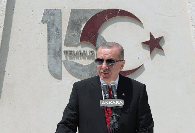 Recep Tayyip Erdogan en un acto en Ankara